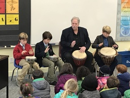 African Drummers Perform in Morning Meeting