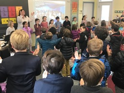 Yoga Activity Presents to Lower School Community