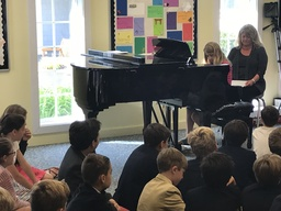 AEP Pianists and Singers Perform in Morning Meeting