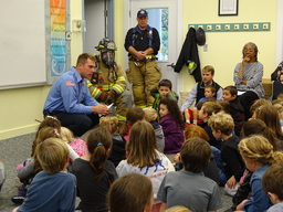 Washington's Fire Department Visits with Lower School